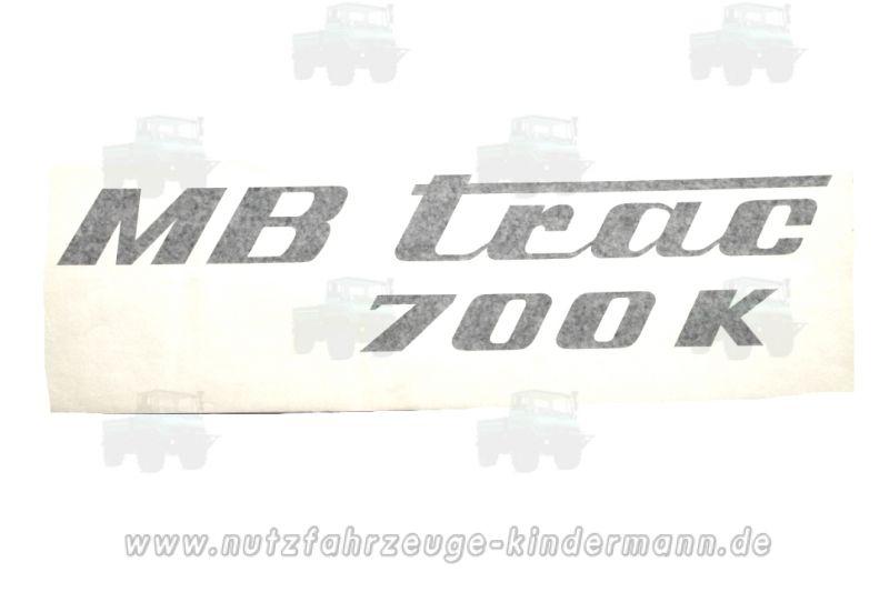 aufkleber f r seitendeckel an motorhaube mb trac 700 g 56 85 e. Black Bedroom Furniture Sets. Home Design Ideas